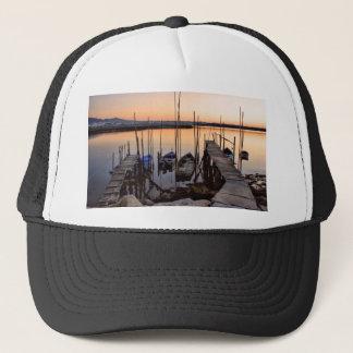 Pier stilt on the river trucker hat