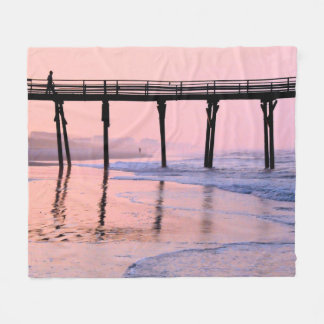 Pier Sunrise Fleece Blanket