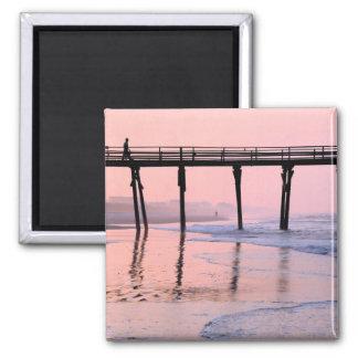 Pier Sunrise Refrigerator Magnets