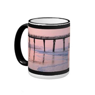 Pier Sunrise Coffee Mugs
