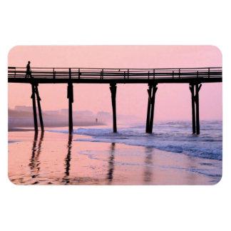 Pier Sunrise Flexible Magnets