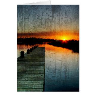 Pier Sunset Card