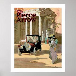 Pierce Arrow Automobile Ad Vintage Art Poster