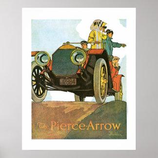 Pierce Arrow Automobile Ad Vintage Art Print