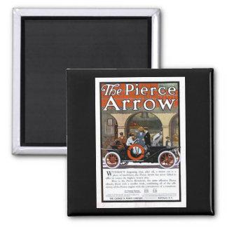 Pierce Arrow Motor Car 2 Inch Square Magnet