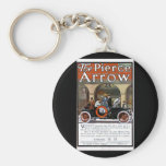 Pierce Arrow Motor Car Basic Round Button Keychain