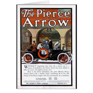 Pierce Arrow Motor Car Stationery Note Card