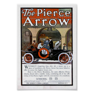 Pierce Arrow Motor Car Poster