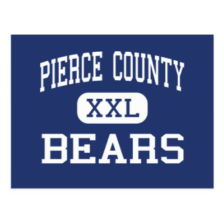 Pierce County - Bears - High - Blackshear Georgia Postcard
