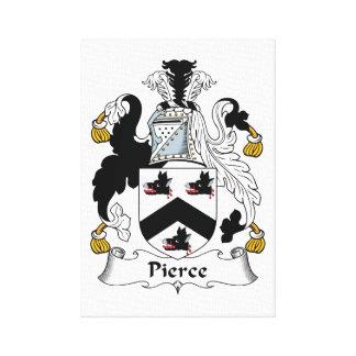 Pierce Family Crest Canvas Prints