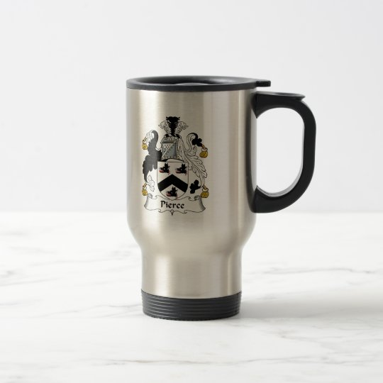 Pierce Family Crest Travel Mug
