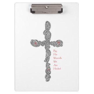 Pierced Cross - Isaiah 53:5 Clipboards