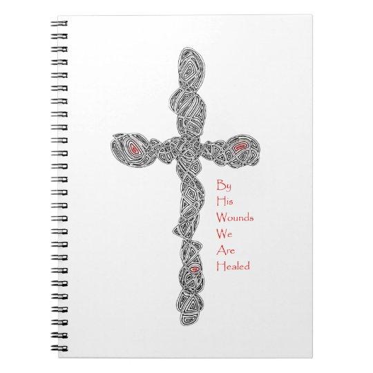Pierced Cross - Isaiah 53:5 Notebook