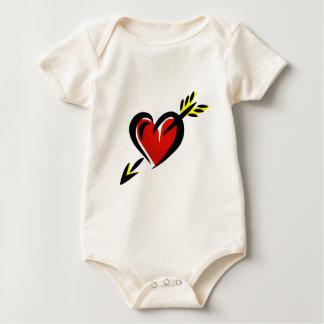 Pierced Heart Arrow Valentine Baby Bodysuit