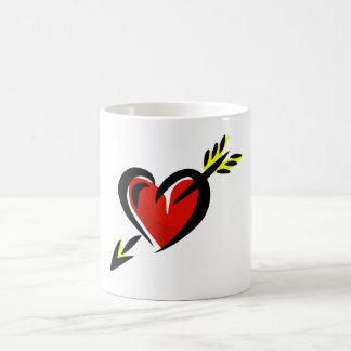 Pierced Heart Arrow Valentine Coffee Mug