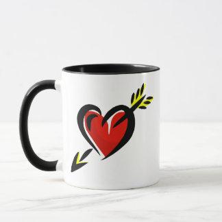 Pierced Heart Arrow Valentine Mug