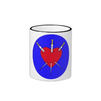 Pierced Heart Coffee Mugs