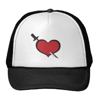 pierced heart trucker hat