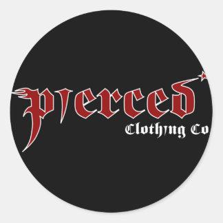 Pierced Main Logo Classic Round Sticker