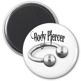 piercer black 2 inch round magnet