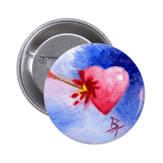 Piercing Heart aceo Button