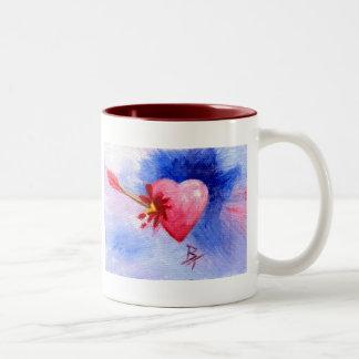 Piercing Heart Two-Tone Coffee Mug
