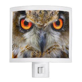 Piercing Owl Eyes Night Light