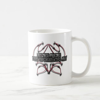 Piercings and Conservatives Humor Coffee Mug