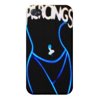 Piercings Neon (Blue)Lady Silhouette iPhone 4 Case