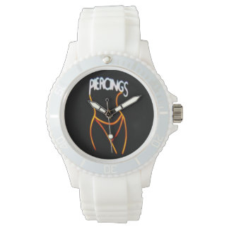 Piercings Neon Lady Silhouette -Gold Watches