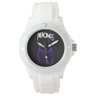 Piercings Neon Lady Silhouette -Purple Watches