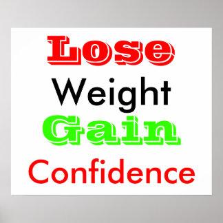 Pierda el peso poster
