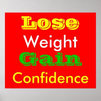 Pierda el peso póster