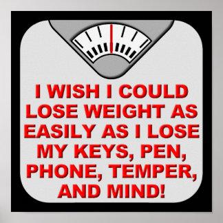 Pierda el peso y mi muestra divertida del poster