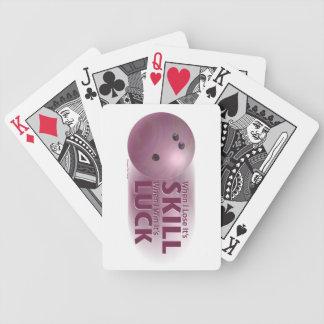 Pierda el rosa que rueda de la suerte del triunfo baraja cartas de poker