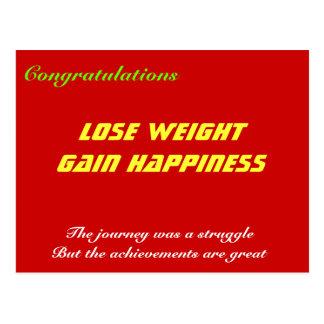 pierda la felicidad del aumento de peso tarjetas postales