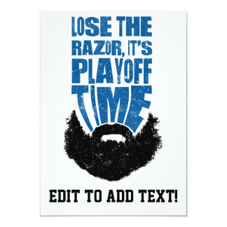 Pierda la maquinilla de afeitar, barba de la comunicado personalizado