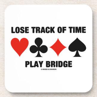 Pierda la pista del puente del juego del tiempo (c posavasos