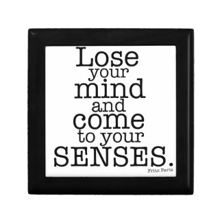 Pierda su mente… joyero cuadrado pequeño