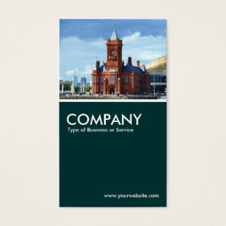 Pierhead Building, Cardiff Bay - Dark Green Business Card