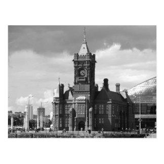 Pierhead Building, Cardiff, Wales, UK (B&W) Postcard