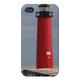 """Pierhead"" Kenosha, WI iPhone 4 Cover"