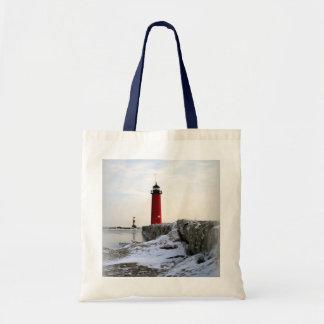 Pierhead Lighthouse Kenosha Wisconsin Bags
