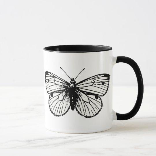Pieris Rapae Butterfly Coffee Mug 1