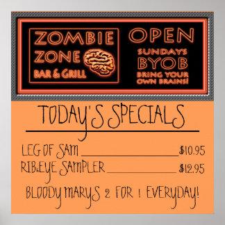 Pierna de los Specials de la comida del zombi del Póster