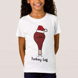 Pierna de Turquía días de fiesta del navidad de un Playera