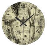 Pierna humana Leonardo da Vinci de la laringe de l Relojes