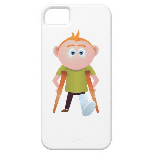 Pierna quebrada funda para iPhone 5 barely there