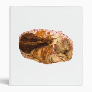 pierna y carne de pavo en el disco blanco rojo