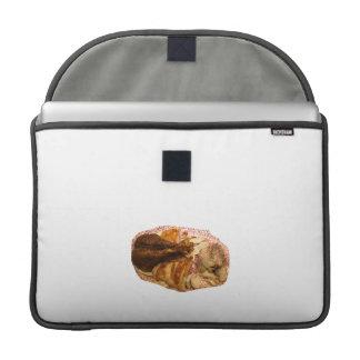pierna y carne de pavo en el disco blanco rojo funda para macbook pro